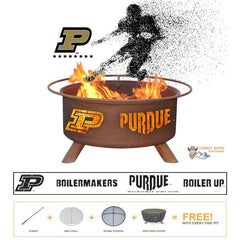 Show Your Pride and Entertain your Friends with the Purdue Boilermakers Steel Fire Pit! – College Fire Pit