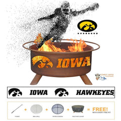 Iowa Steel Fire Patina College Fire Pit