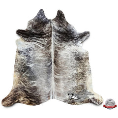 Grey Brindle Cowhide Rug - Origin: Brazil