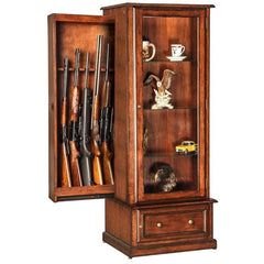 10 Gun Curio Slider Hidden Gun Cabinet Combination