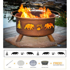 Bear & Trees Fire Pit - Bringing the campfire experience to your backyard