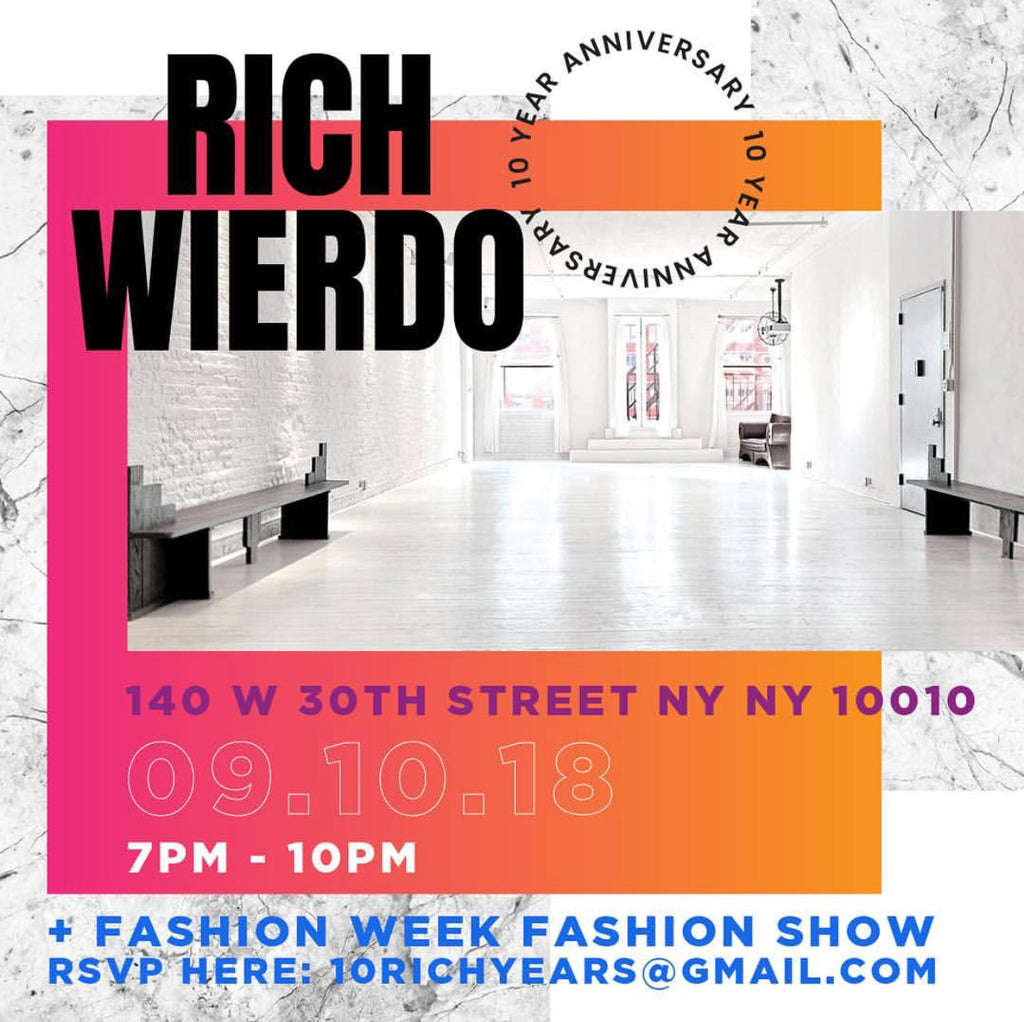 10 Rich Years Of 'RichWierdo' at NYC Fashion Week 2018