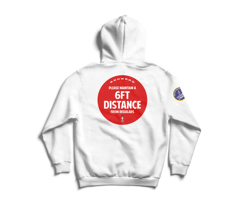6ft Distance Hoodie (White)