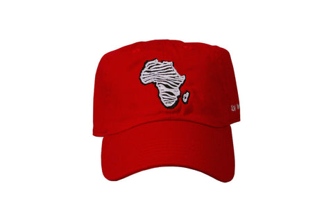 Zebra Africa Dad Hat (Red)