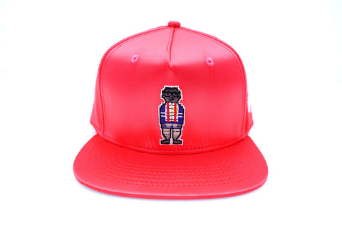 Digital Nerd Satin Snap Back ( Red )