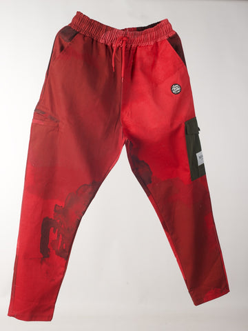 RichWierdo Smoke Camo Army Pants (red)