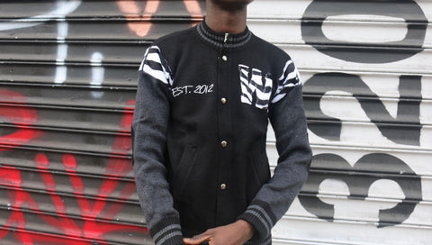Trillion Dollar Baby Knitted Varsity(black)