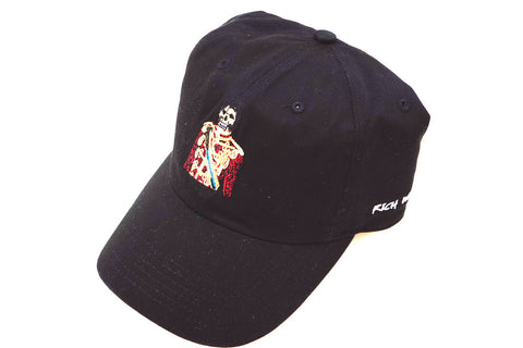 MJ Off The Wall Skull Dad Hat ( Black )
