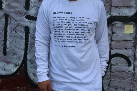 "RichWierdo""The Definition"" Longsleeve Tee (white)"
