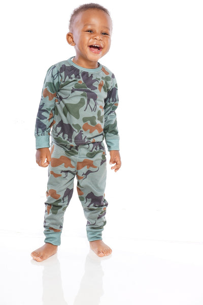 Kids Concrete Jungle Pajama Set (Green set & Red Set come together )
