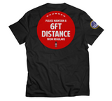 RichWierdo 6ft Distance Tee Black (Covid Capsule)