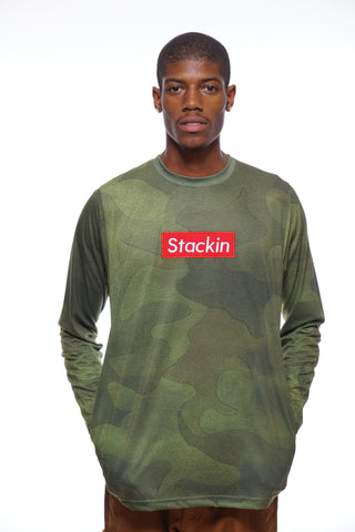 Stackin' Camo Long-Sleeve Graphic Tee