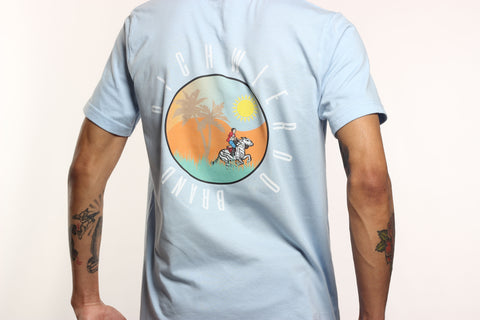 The RichWierdo Brand Wild Zebra Tee (Sky Blue)