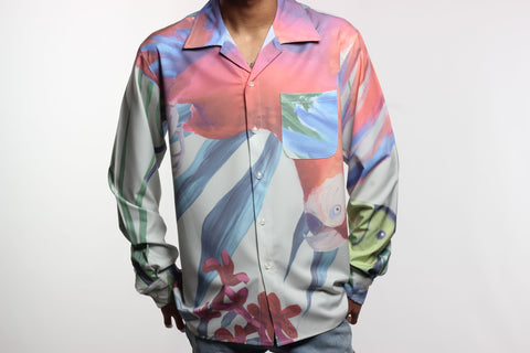 Flying Flamingo Dress Shirt