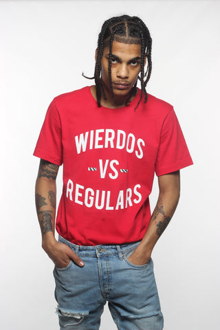 Wierdos VS Regulars Tee(Red)