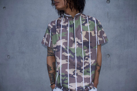 RichWierdo Pin Stripe/Camo (Dress Shirt)