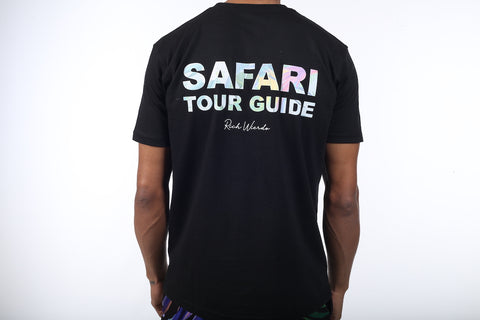 Safari Tour Guide T-Shirt (Black)