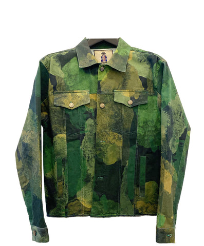 Smoke Camouflage Denim Jacket (Green)