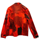 Smoke Camouflage Crop Denim Jacket (Red)