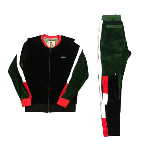 RichWierdo 2-Tone Velour Track Suit (Black )