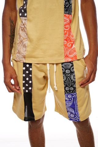 RCHWRDO Patchwork Shorts (Bronze)