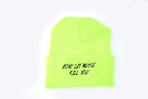 Don't Let Music Kill You - Safety Green Skully