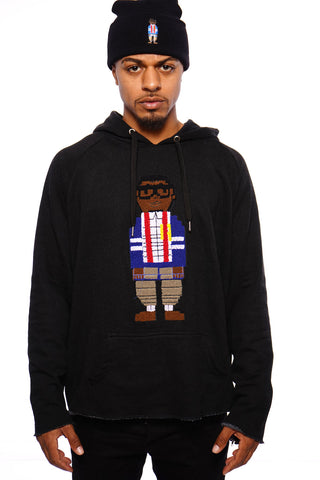 Chenille Embroidered Digital Nerd Hoodie ( Black)(Sold out)