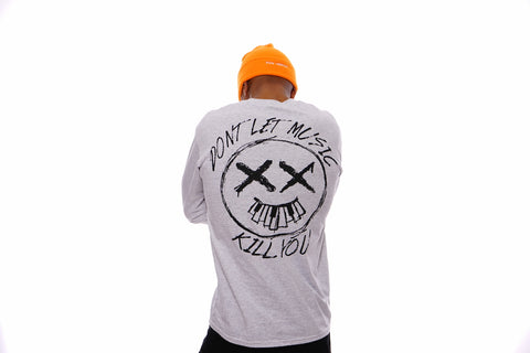 Don't Let Music Kill You Graphic Tee (Ash Grey)