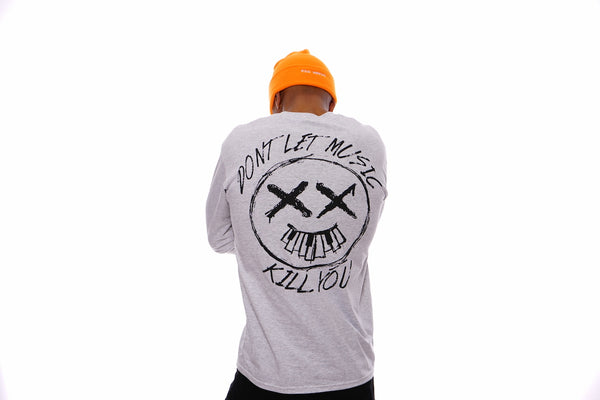 Don't Let Music Kill You Longsleeve Tee (Ash Grey)