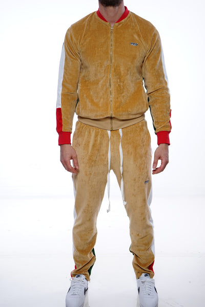 RichWierdo 2-Tone Velour Track Suit (Wheat) SOLD OUT