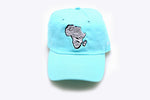 Zebra Africa Dad Hat (Teal/Mint)