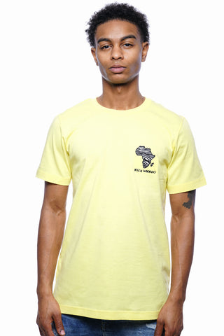 Zebra Africa Tee (Canary Yellow)