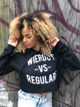 Wierdos Vs Regulars Crop Top (Black)