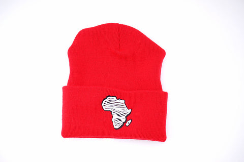 Zebra Africa Skully (Red)