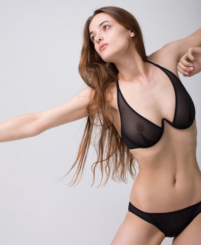 Fast Girls Bra by La Fille D'O - Black