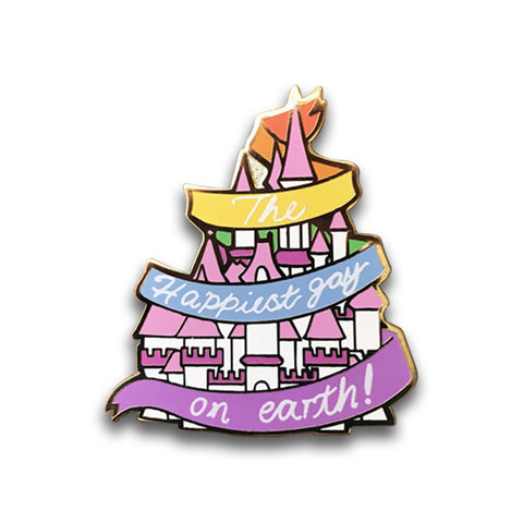 Happiest Gay on Earth Pin