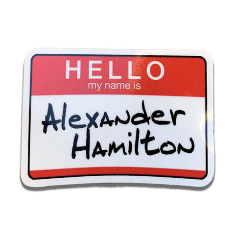 Alexander Hamilton Nametag DECAL