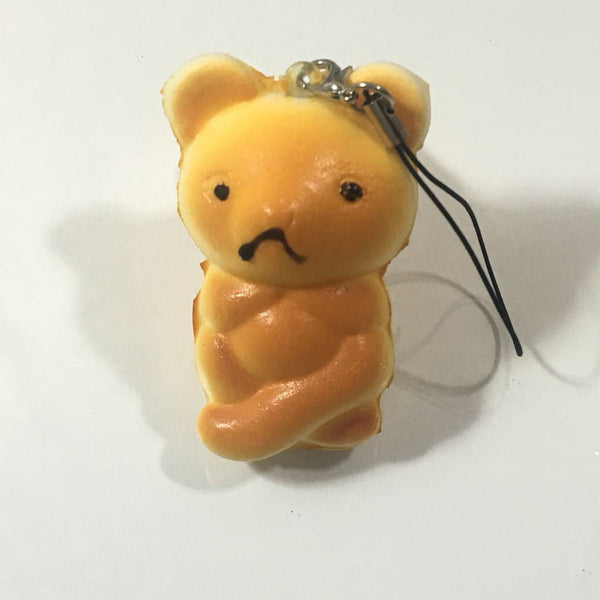 Squishy Bread Bear Keychain