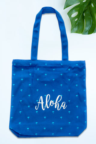 Aloha Tote Bag with Zipper