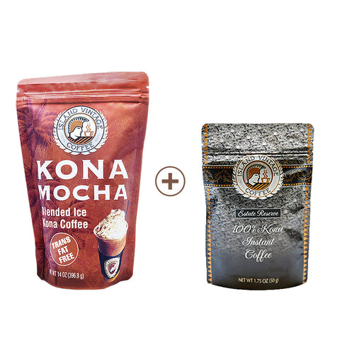 Kona Mocha Mix & 100% Kona Instant Coffee
