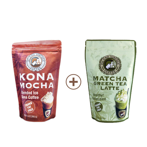 [Happy New Year Package] Kona Mocha & Matcha Green Tea Latte Set