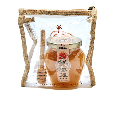 Raw White Hawaiian Honey & Stick Set