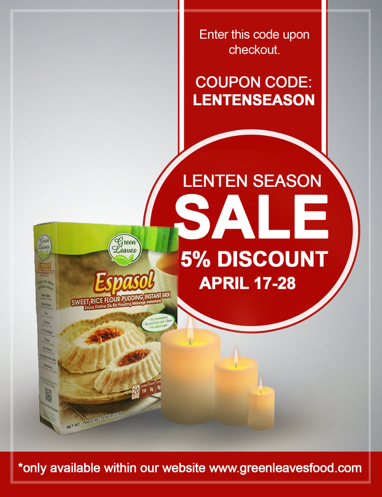 Lenten Season Sale