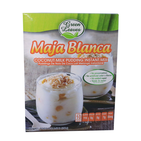 Green Leaves Rice and Coconut Instant Dessert- Maja Blanca- Coconut Milk Custard Pudding Mix