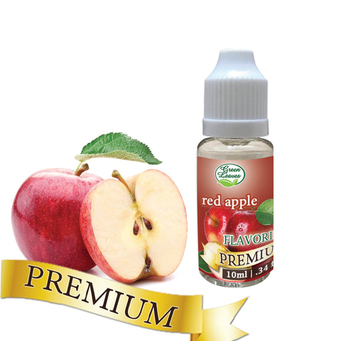 Premium Green Leaves Red Apple Flavor