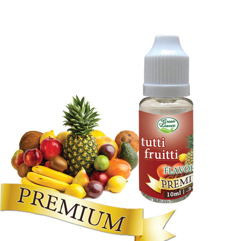 Premium Green Leaves Tutti Fruitti Flavor