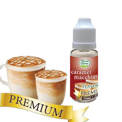 Premium Green Leaves Caramel Macchiatto Flavor