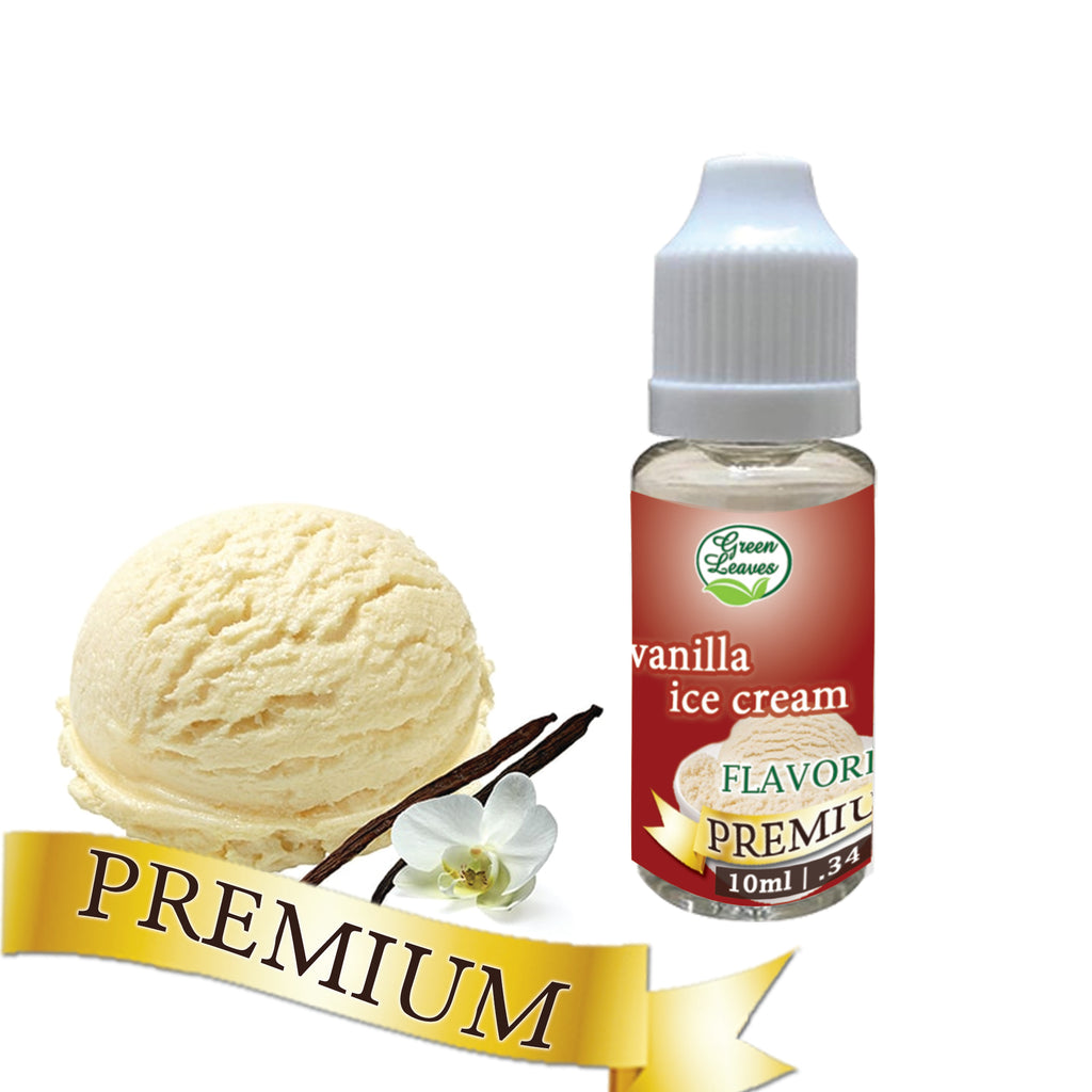 Premium Green Leaves Vanilla Ice Cream Flavor