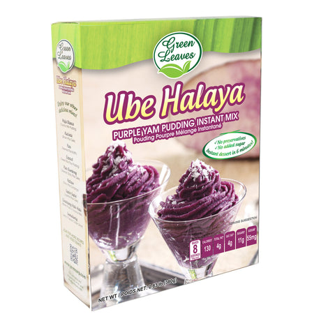 Green Leaves Purple Yam and Coconut Instant Dessert- Ube Halaya Pudding Instant Mix 380g