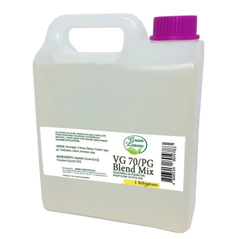Green Leaves Natural VG70PG BLEND Vegetable Glycerin Glycerol 70% Propylene Glycol 30%